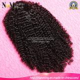 As perucas peruanas profundamente Curly curtas 8-30inch da parte dianteira do laço do grampo das perucas do cabelo Sew no cabelo humano da peruca trançada do laço, tampões da peruca para fazer perucas