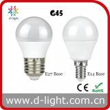 Bulbo de alumínio plástico redondo do globo do diodo emissor de luz do grau 3W 4W 5W 6W 7W de Epistar SMD2835 270 do mini golfe de E14 E27 G45