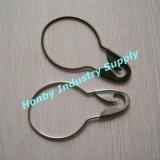Longues chevilles argentées de tête de sécurité en métal de la couleur 125mm pour le crochet de rideau (P160727A)