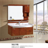 Side Cabinet를 가진 도매 Wall Mounted Wood Material Bathroom Vanity