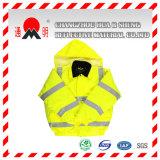 Yellow-Green отражательная тельняшка с прокладками высокой видимости отражательными (vest-3)
