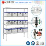 estante de exhibición de la estantería del alambre de metal del cromo 800lbs para el almacén