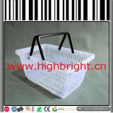 Cesta de compra do engranzamento de fio de aço com pálete plástica