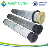 Фильтры мешка Forst плиссированные полиэфиром для пыли цемента