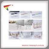 Mesa de centro de madera superior de cristal del estante 2015 (CT033)