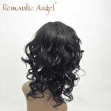 Объемной волны париков волос 80% волна Unprocessed индийской длинней естественная для черноты чернокожих женщин