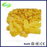 Желтые кроватки перста перчаток ESD латекса (EGS-27)