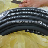 Масла давления оплетки провода SAE100 R2 шланг высокого гибкого гидровлический резиновый