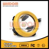 Lâmpada de mineiro do diodo emissor de luz da bateria de lítio de Kl5ms, lâmpada de tampão do diodo emissor de luz