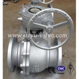 Acero al carbono Válvulas de bola de paso total pestaña extrema Clase 150 Wcb Diseño