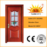 現代デザイン戸枠(SC-W097)が付いている内部の純木のドア