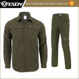 OutdoorのためのEsdy Breathable速くDrying長いSleeved Shirt