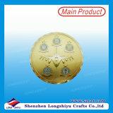 Pièce de monnaie folâtre à la mode en métal avec le logo de plaque d'or