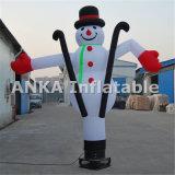 Pequeño muñeco de nieve inflable del bailarín del aire para la Navidad
