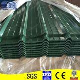 Folhas de aço onduladas Prepainted galvanizadas do telhado