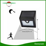 Bateria impermeável da Não ofuscante-Modalidade 2200mAh da lâmpada da segurança do sensor de movimento das lâmpadas da luz de rua 28PCS do jardim da montagem da parede do diodo emissor de luz da potência solar PIR