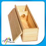 손잡이와 자물쇠를 가진 나무로 되는 술병 포장 가죽 상자