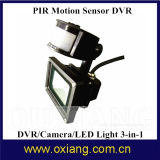 Caméra de sécurité de la vision nocturne HD 720p de détecteur de mouvement de PIR avec l'éclairage LED