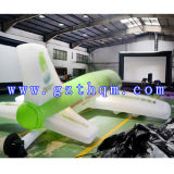 Modelo inflable al aire libre de los aviones grandes