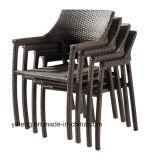 Tabella pranzante della mobilia di prezzi del rattan della persona sintetica poco costosa esterna del cubo 8-10 e presidenza (YTA581&YTD020-13)