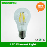 Der UL-aufgeführtes 120V A60 LED Heizfaden-Licht Heizfaden-Birnen-6W E26 LED