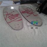 Geen het Rennen van het Polycarbonaat van Transparant van de Onderbreking Skateboard