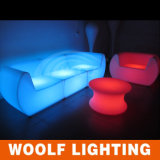 Éclairage LED vers le haut de sofa de barre avec le sofa à télécommande de DEL