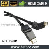 Wartel 180 van de Kabel van de hoge snelheid de Kabel van de Graad HDMI