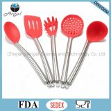 Комплект Kitchenware утвари кухни с ручкой Sk24 нержавеющей стали