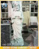 Mármol la mayoría del corazón sagrado de la estatua de Jesús