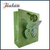 녹색 생일 디자인은 Cmyk에 의하여 제작된 인쇄한 종이 봉지를 주문을 받아서 만든다