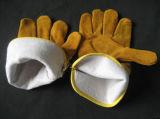 De gouden Handschoen van het Werk Thinsulate van het Leer van de Koe Gespleten volledig