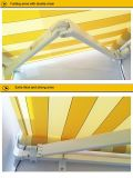 Nuovo Design Retractable Awning con Front Drop da Manual Crank con Polyester Fabric