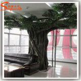 Alta imitación de fibra de vidrio artificial Ficus Árbol