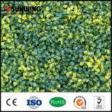 벽 훈장 UV 보호된 노란 인공적인 잎 플랜트 담