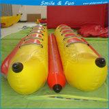 Barca di banana gonfiabile materiale del PVC di uso del gioco della sosta dell'acqua
