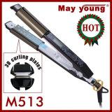 Профессионал LCD 2 в 1 раскручивателе волос и Curler волос