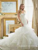 Платье венчания Mrl2879 Mermaid тучной Bridal мантии шнурка без бретелек расположенный ярусами