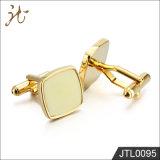 Botones del pun¢o del color del oro de la calidad de la manera Niza para la joyería de los hombres