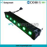 Ce/RoHS/CQC/UL 승인 실내 6PCS 12W Rgbawuv LED 단계 벽 점화
