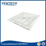 Verspreider van het Plafond van het aluminium de Vierkante in Witte Kleur