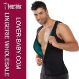 Los hombres de la cintura Trimmer Trainer Gym Ultra sudor talladora del chaleco (L42660-4)
