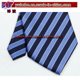 Lazo de la corbata de los hombres de seda tejidos telar jacquar clásico del lazo del poliester (T8033)