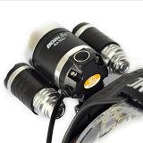 5000lm 3 LED Xml T6 +2 R5 자전거 난조를 위한 UV 자주색 가벼운 Headlamp 3 최빈값 UV 헤드라이트