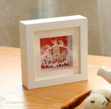 Marcos blancos cuadrados de la foto de madera sólida