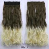 Clip caliente de la venta 2016 en clip de la Virgen del pelo rizado en extensiones del pelo