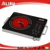 Hecho en caso de acero inoxidable de China con la cocina infrarroja eléctrica de la maneta
