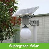 센서를 가진 1개의 태양 LED 정원 가로등에서 모두