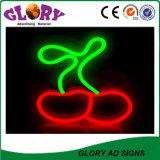 Flessione al neon aperta del segno al neon del LED