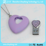 Purple Heart Pendant Shape Jewelry USB Pen Drive (ZYF1908)